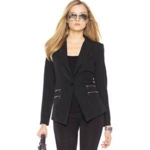 MICHAEL Michael Kors Zip Pocket Black Blazer - 10